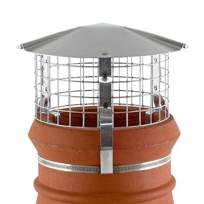Brewer Chimney Pot Simple Birdguard Silver Solid Fuel Stoves Round Top