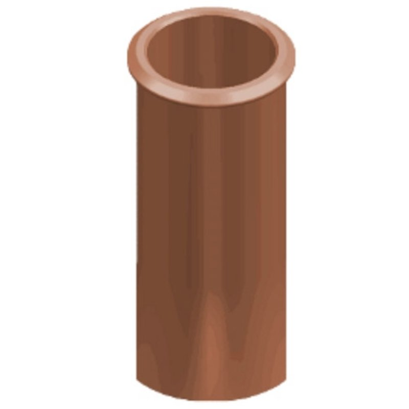 Clay Cannon Head Straight Roll Top Chimney Pot - Terracotta