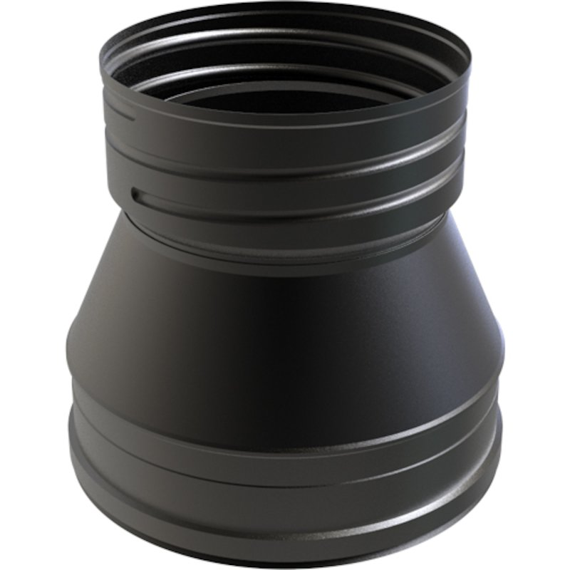 Convesa KC Twinwall Flue TW-Flex Tapered Adapter - Black