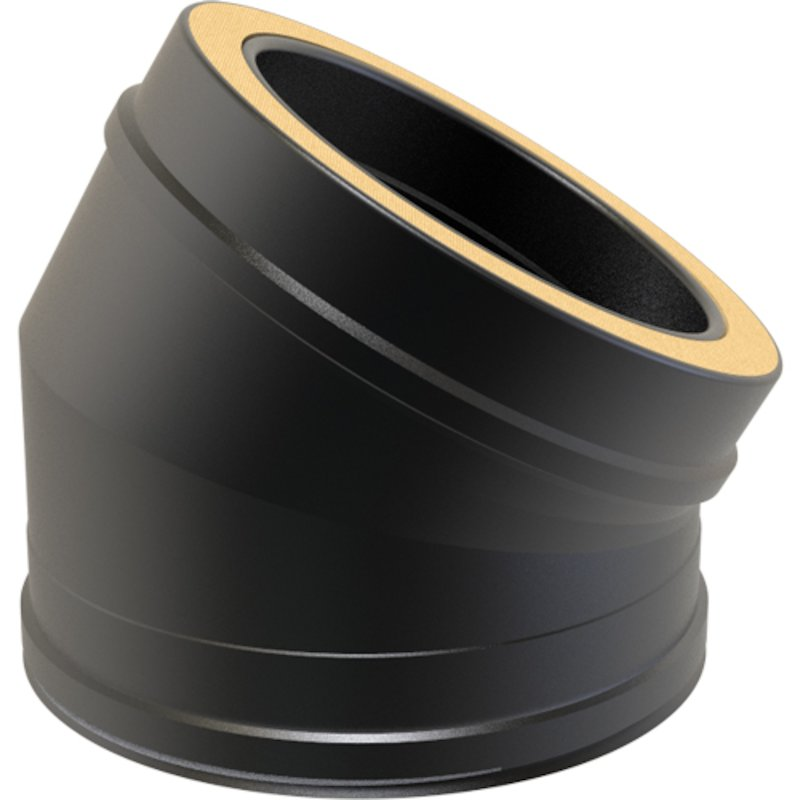 Convesa KC Twinwall Flue 30° Elbow - Black