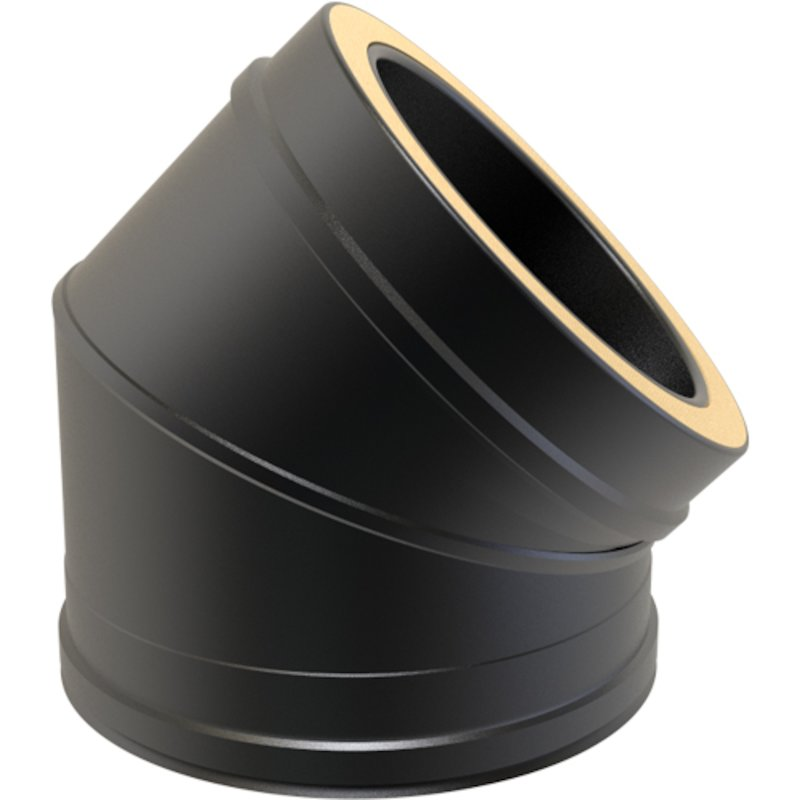 Convesa KC Twinwall Flue 45° Elbow - Black