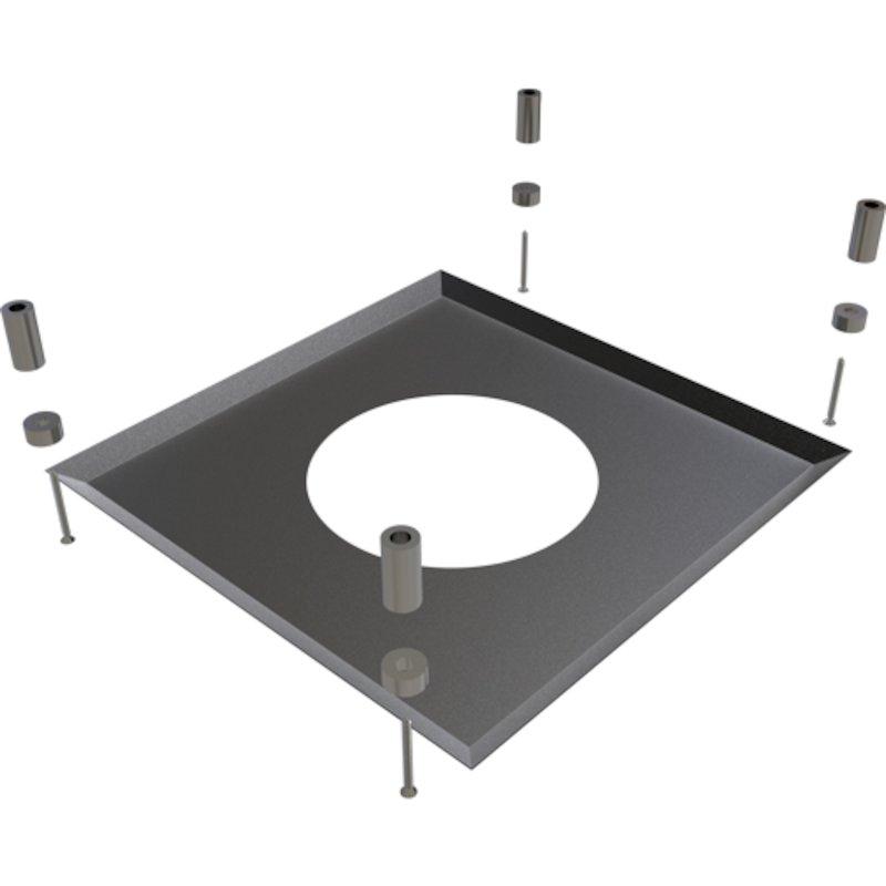 Convesa KC Twinwall Flue Magnetic Firestop Cover Plate - Black