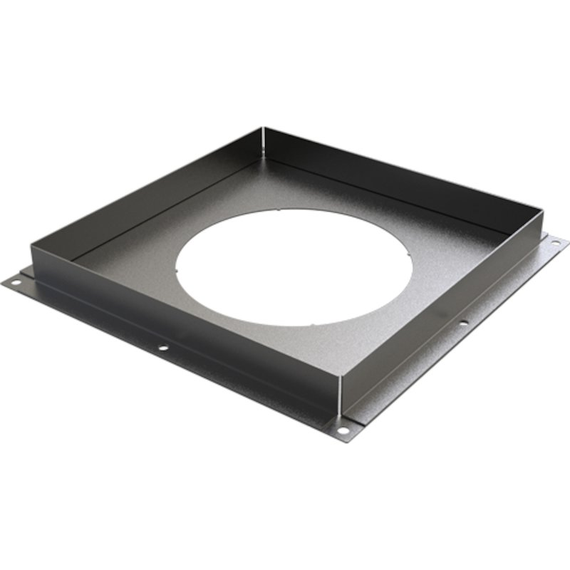Convesa KC Twinwall Flue Solid Firestop Plate - Black