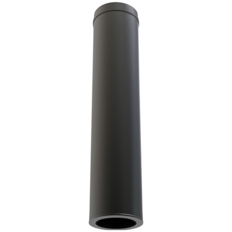 Convesa KC Twinwall Flue 1m Connection Length - Black