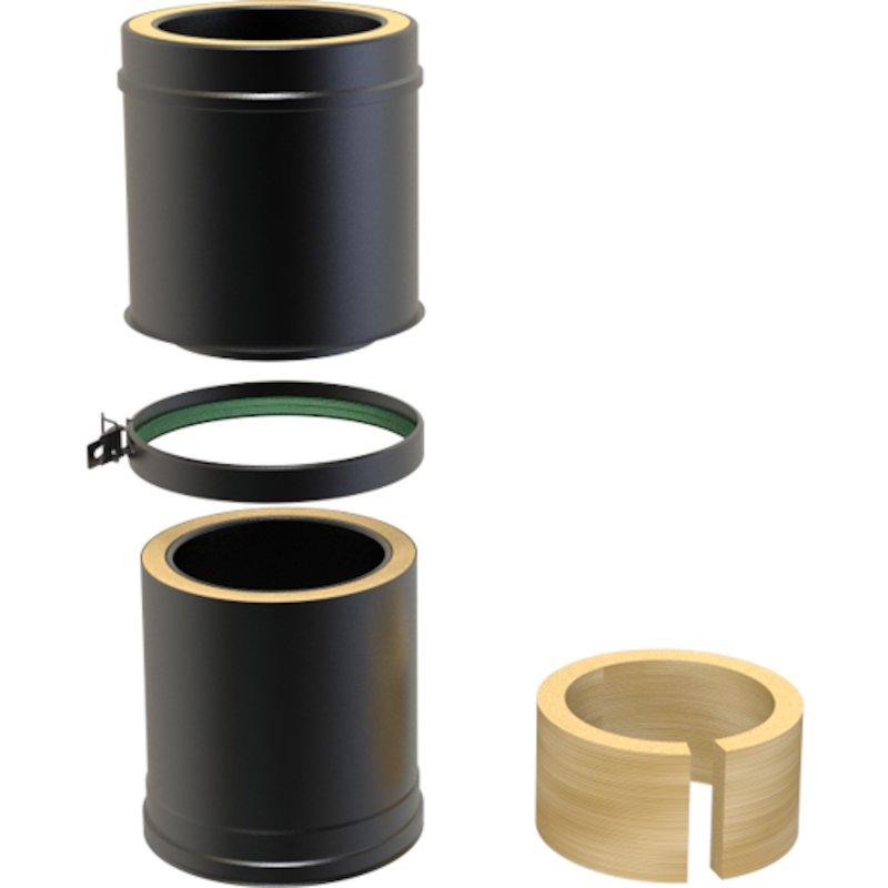 Convesa KC Twinwall Flue 250-350mm Adjustable Length - Black