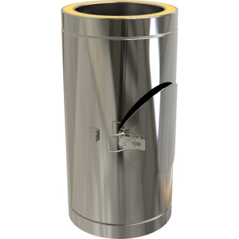 Convesa KC Twinwall Flue 500mm Length with Door - Silver Filigree