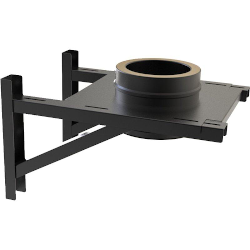 Convesa KC Twinwall Flue Adjustable Base Support inc 200mm Length - Black