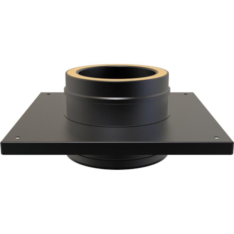Convesa KC Twinwall Flue Flat Console Plate inc 200mm Length - Black