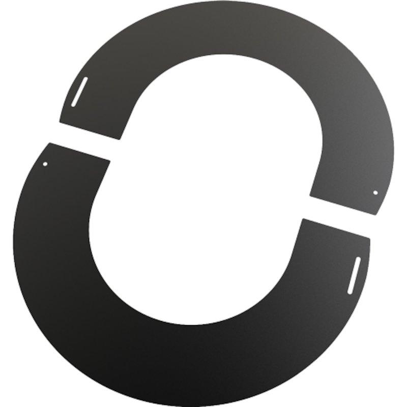 Convesa KC Twinwall Flue Flat Trim Plate - Black