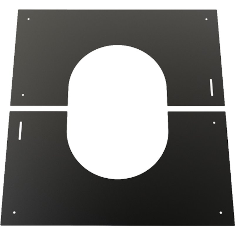Convesa KC Twinwall Flue 0-30° Adjustable Trim Plate - Black