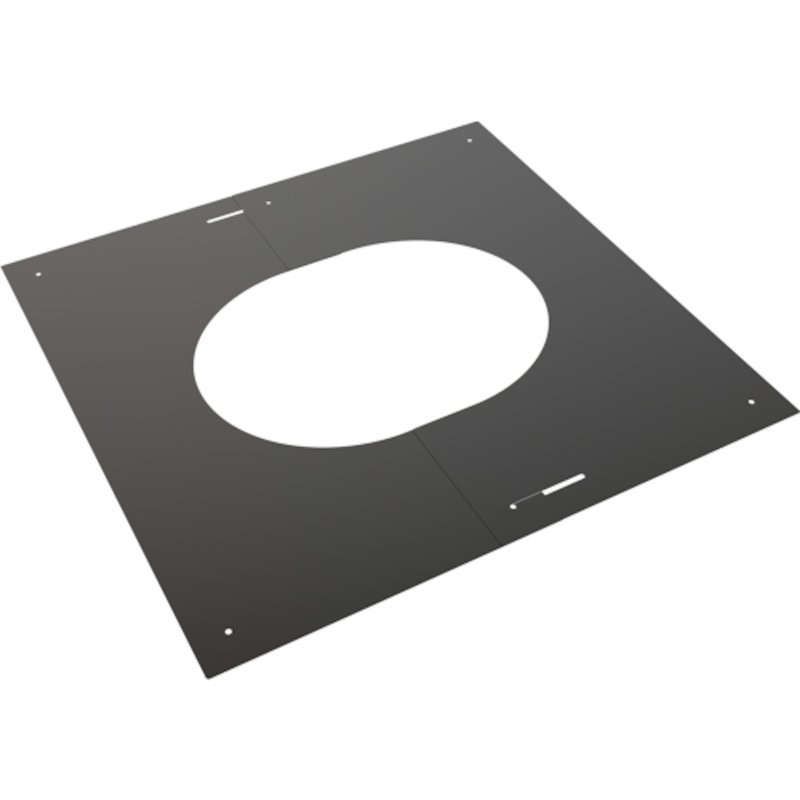 Convesa KC Twinwall Flue 30-45° Adjustable Trim Plate - Black