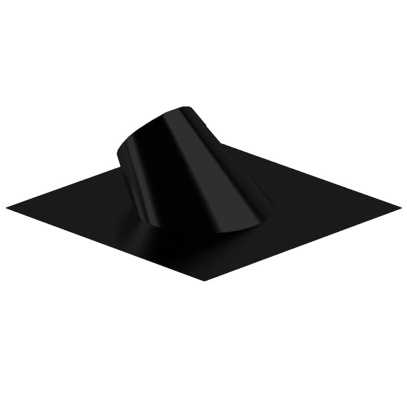 Midtherm HTS Twinwall Flue Adjustable Pitched Roof Flashing - Black