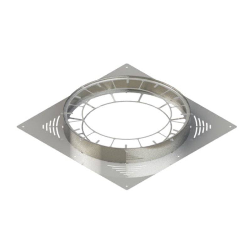 Midtherm HTS Twinwall Flue Ventilated Firestop and Collar - Silver Filigree
