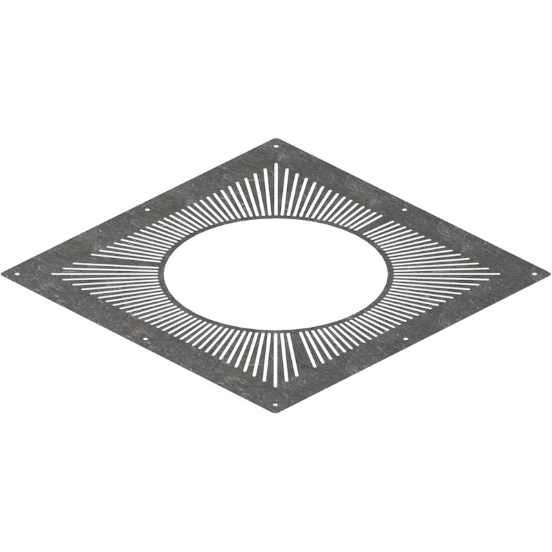 Midtherm HTS Twinwall Flue Ventilated Top Plate - Silver Filigree
