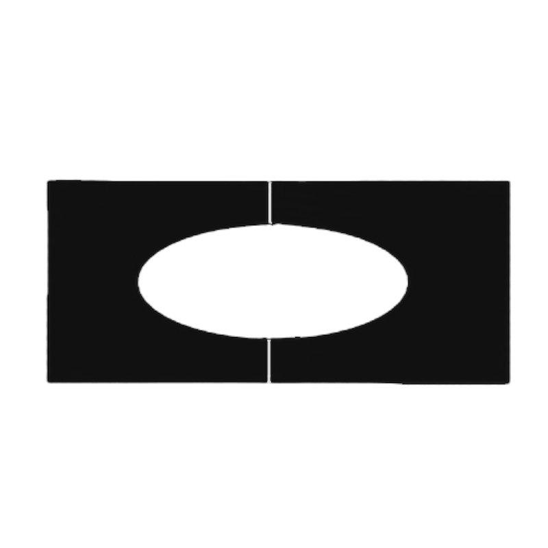 Midtherm HTS Twinwall Flue 45° Trim Plate - Black