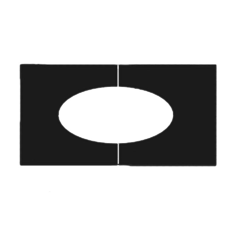 Midtherm HTS Twinwall Flue Flat Trim Plate - Black