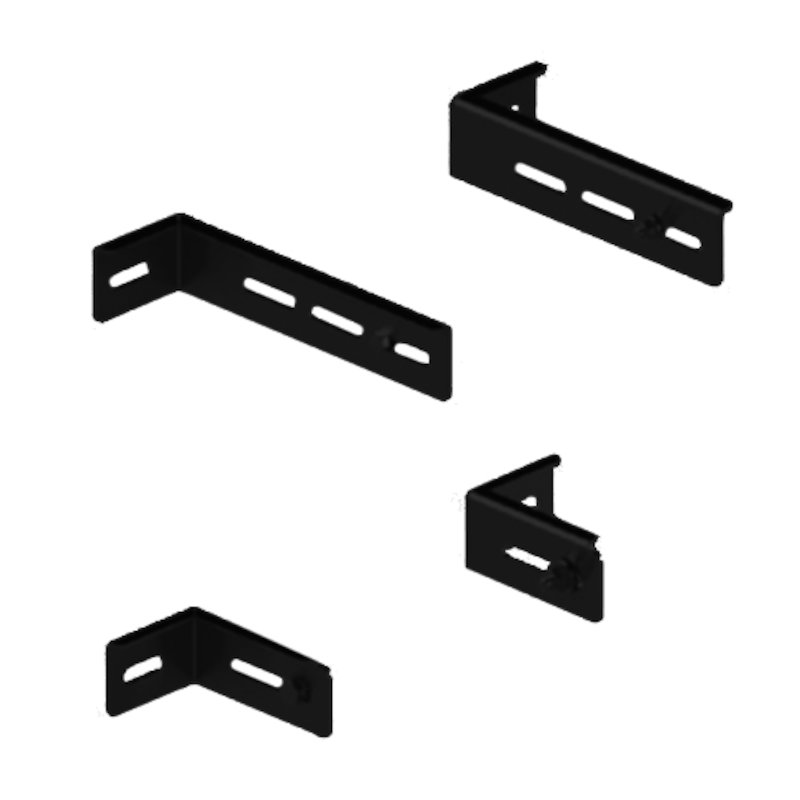 Midtherm HTS Twinwall Flue Wall Bracket Arm Extensions - Black