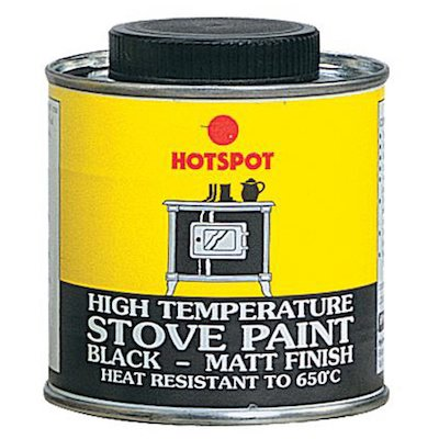 Hotspot Heat Resistant Stove Paint - Tin Matt Black Medium