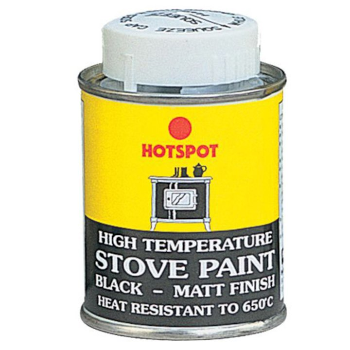 Hotspot Heat Resistant Stove Paint - Tin Matt Black Small - Matt Black