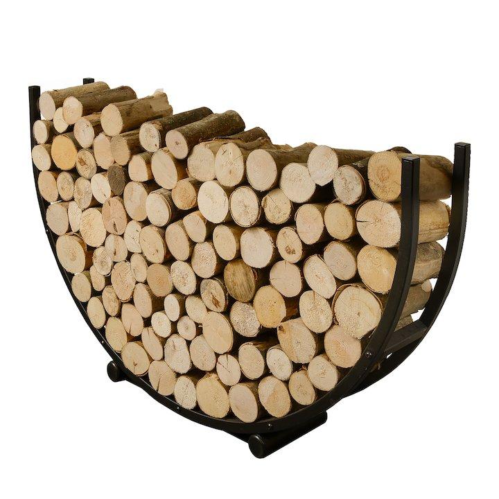 Harrod Semi Circle Log Holder Black Standard - Black