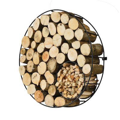 Harrod Wire Circle Wall Mounted Log Holder