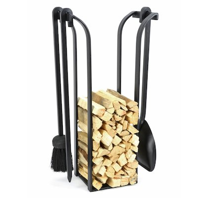 Manor Blacksmith Kindling Holder With Fire Tools