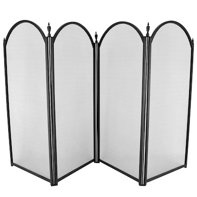 Manor Dynasty Plus 4 Fold Large Fire Screen