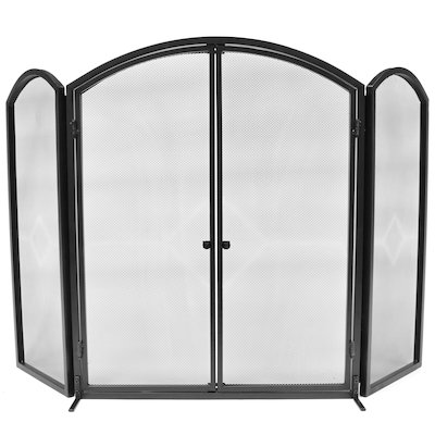 Manor Archway 3 Fold Fire Screen with Doors
