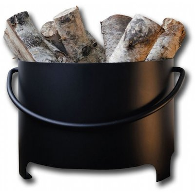 Hwam Round Log Bucket with Handle - Clearance