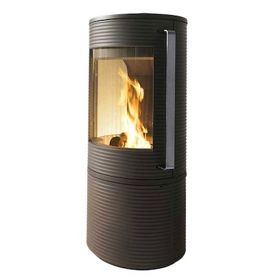 Invicta Altara Wood Stove Anthracite Silver Handles