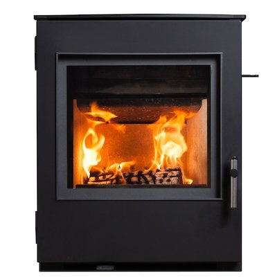 ESSE 350 Multifuel Inset Stove Black Contemporary Door