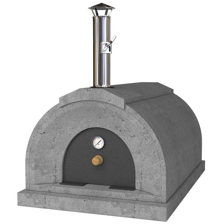 Vitcas Double Casa Outdoor Stone Pizza Oven - Grey