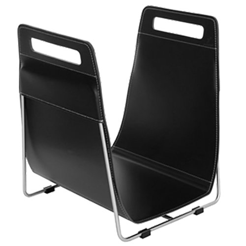 Ferrari Opus Focus Corrium Log Carrier - With Stand Black Stainless Steel - Black