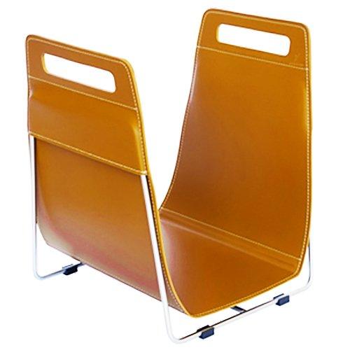 Ferrari Opus Focus Corrium Log Carrier - With Stand Orange Stainless Steel - Orange