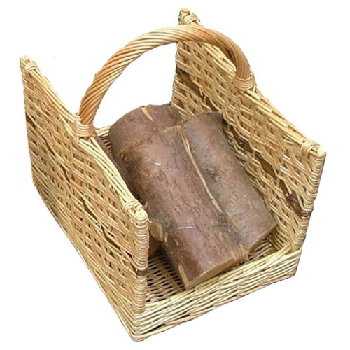 Calfire Open End Large Log Basket - Brown