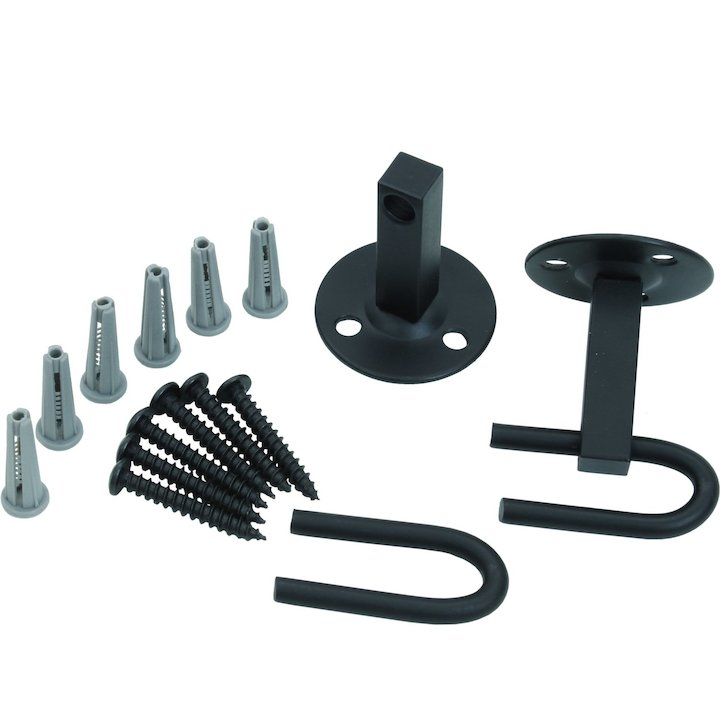 Calfire Noble Fire Screen Wall Hook Kit - Black