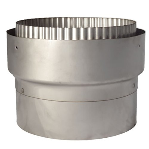 Quattro Plus Solid Fuel MA Stove Pipe to Chimney Liner Adapter - Silver Filigree