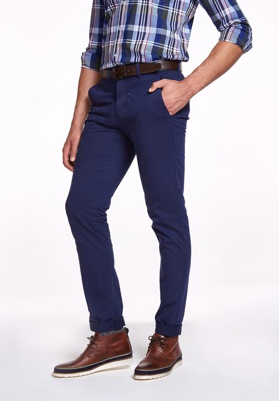 Pantalón chino elástico - Azul Tinta
