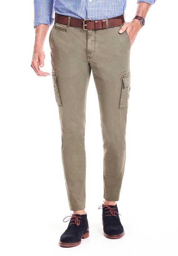 Pantalón cargo de algodón