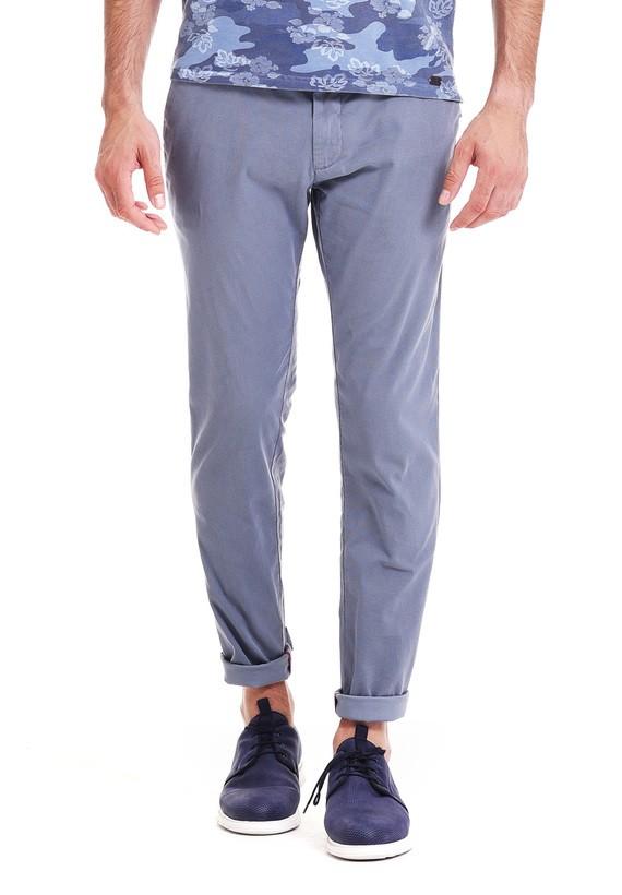 Pantalón chino slim - Acero