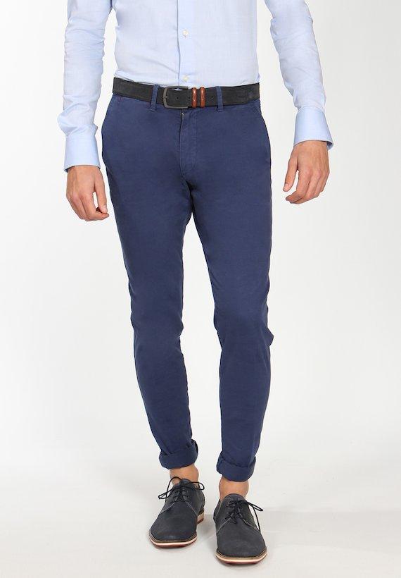 Pantalón chino semi slim - Azul Cobalto