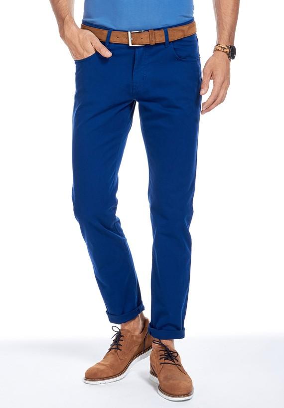 Pantalón 5 bolsillos hibrido - Azul Cobalto