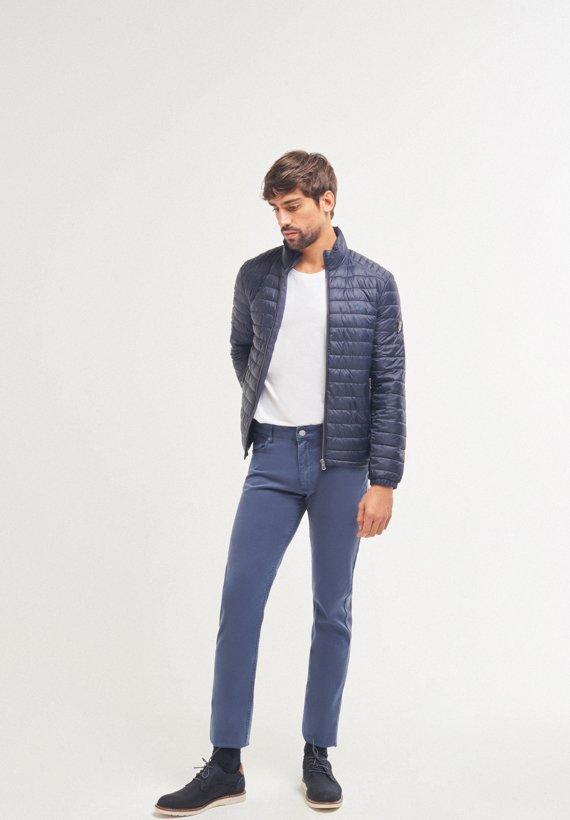 Pantalón 5 bolsillos de corte slim fit - Azul Tinta