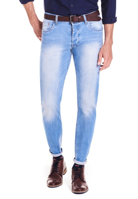 Pantalón 5 bols denim slim