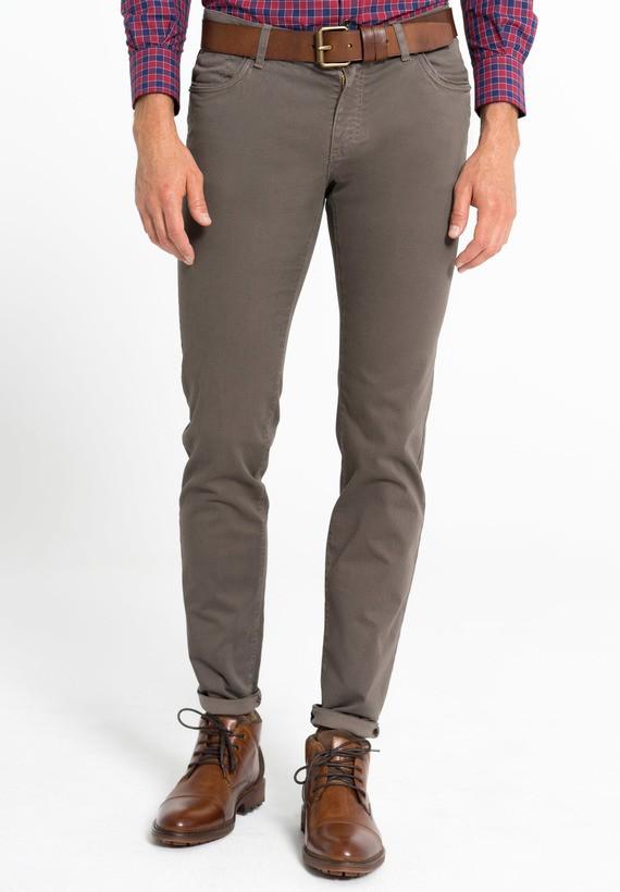 Pantalón 5 bolsillos estampado semi slim