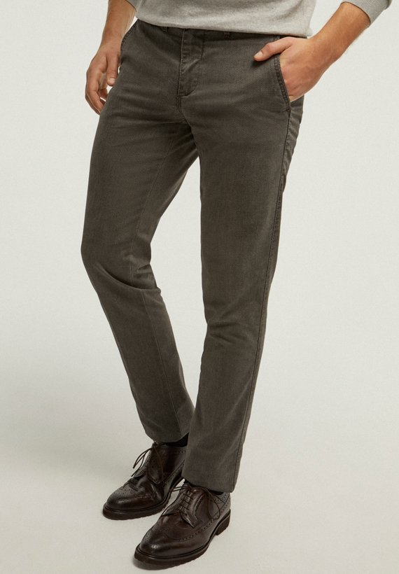 Pantalón chino regular - Gris Oscuro