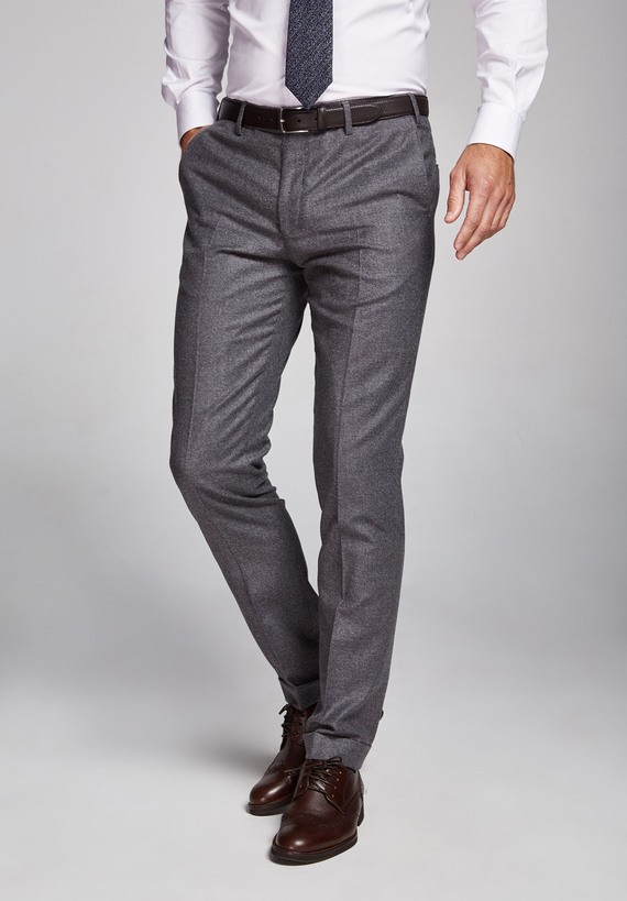 Pantalón lana  medium bajos