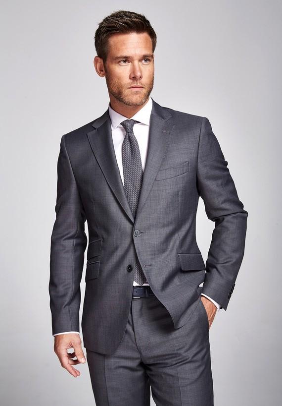 Americana lana regular gris