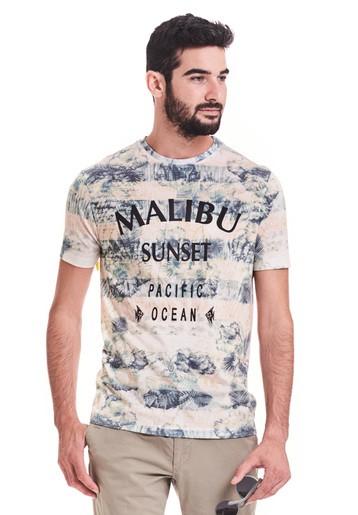 Camiseta regular fit. De mangas cortas y cuello redondo