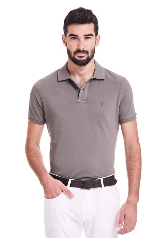 Polo regular fit de mangas cortas y cuello de canalé
